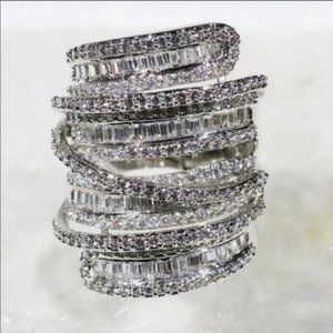 Diamond💎6.4 CT 925 Sterling Silver Ring